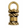 Revolving End Cap - Rope 12mm 3mm Hole Antique Brass